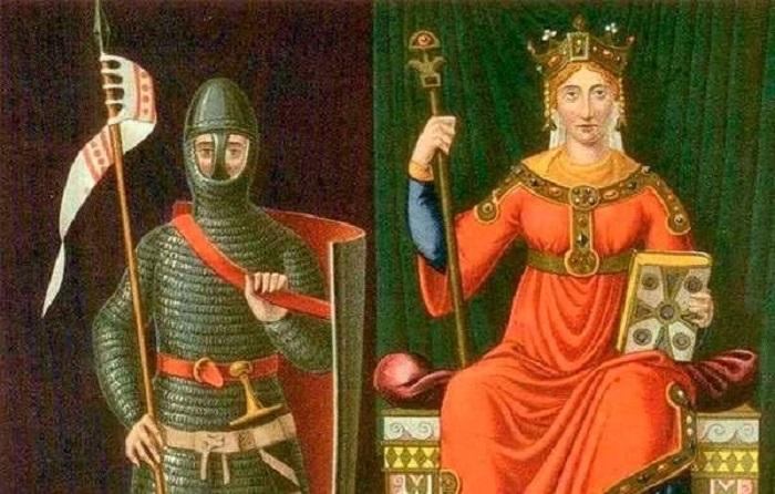 Анна на троне, изображение одиннадцатого века, то есть эпохи, когда жила Анна.