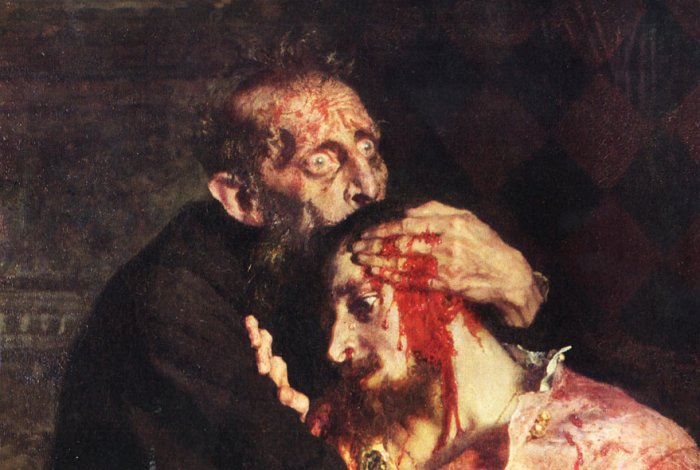 Фрагмент картины И.Репина. Иван Грозны убивает своего сына